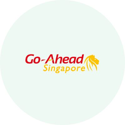 Go-Ahead Singapore logo in coloured circle